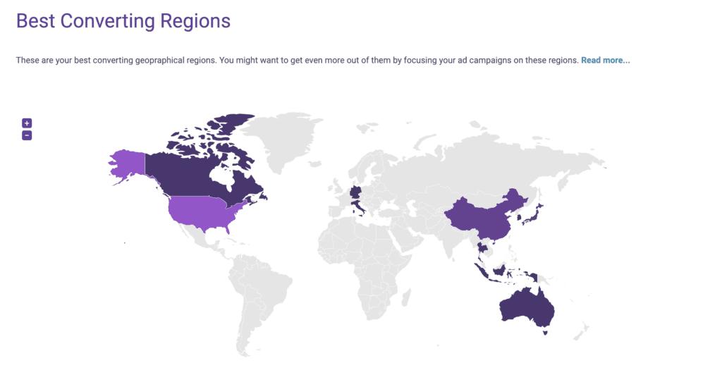geographic segments aarrr metrics