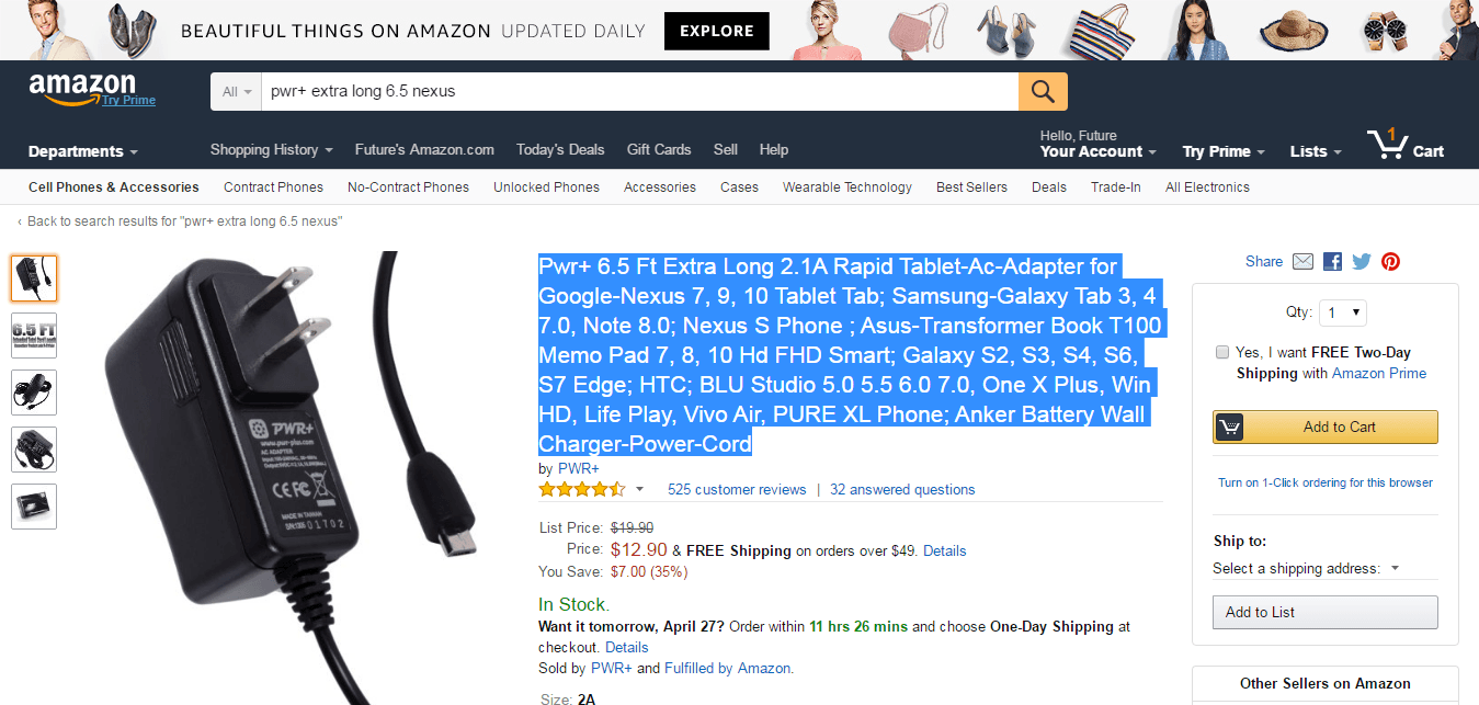 amazon product fail