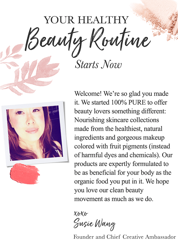 welcome email example beauty