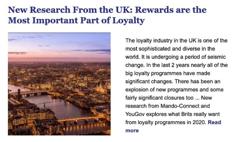 Rewards Most Important Part of Loyalty