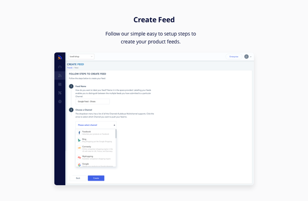 create Google products feed