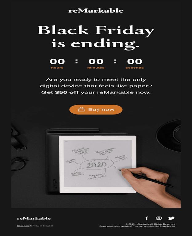 Backfriday countdown timer