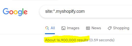 Google search Shopify