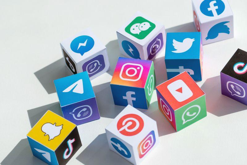 social media strategies boxed icons